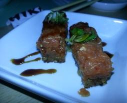 Zensai One: Crispy Rice with Spicy Tuna on Top