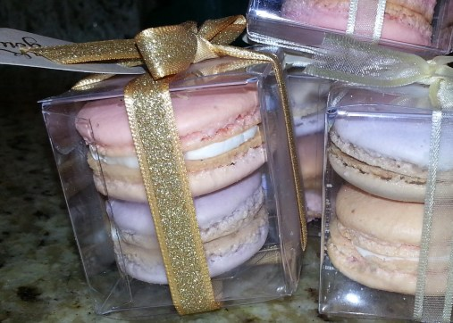 Rose and Lavender Macarons
