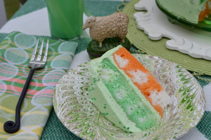 Irish Flag Poke Cake