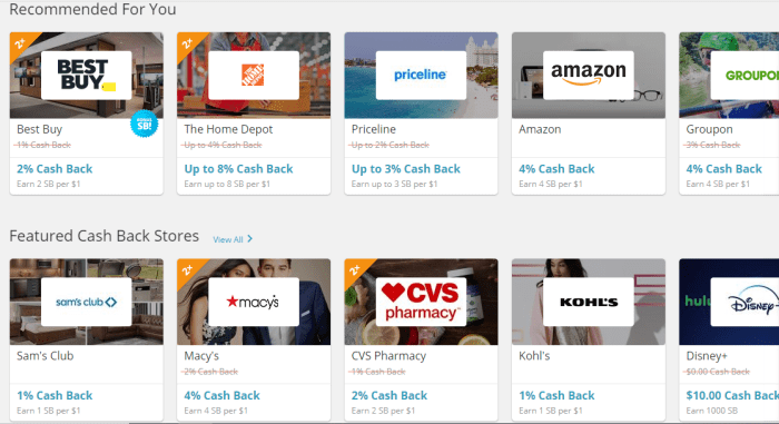 Earn cash back at Swagbucks