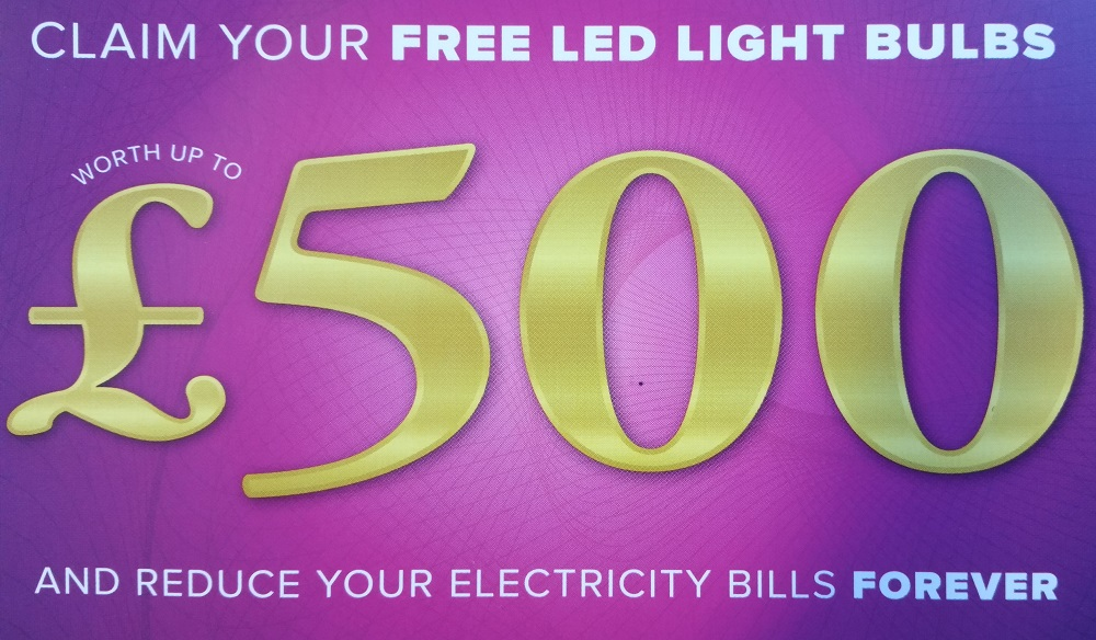 FREE LED Light Bulbs Worth £500 From More Income And Savings