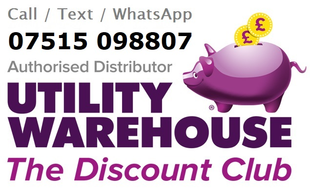 Utility Warehouse Distributor - UW ID - Logo - More Income and Savings - Call 07515098807