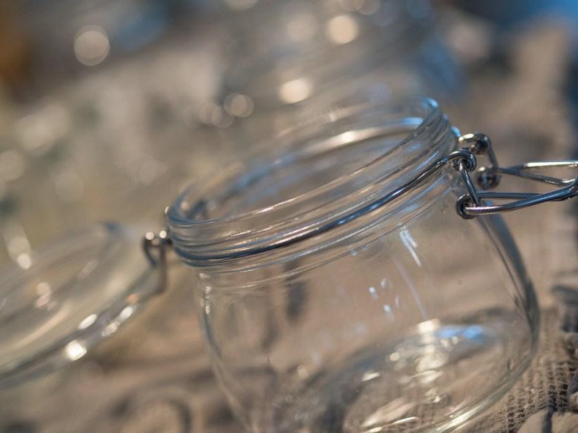Marmeladeglas-leer