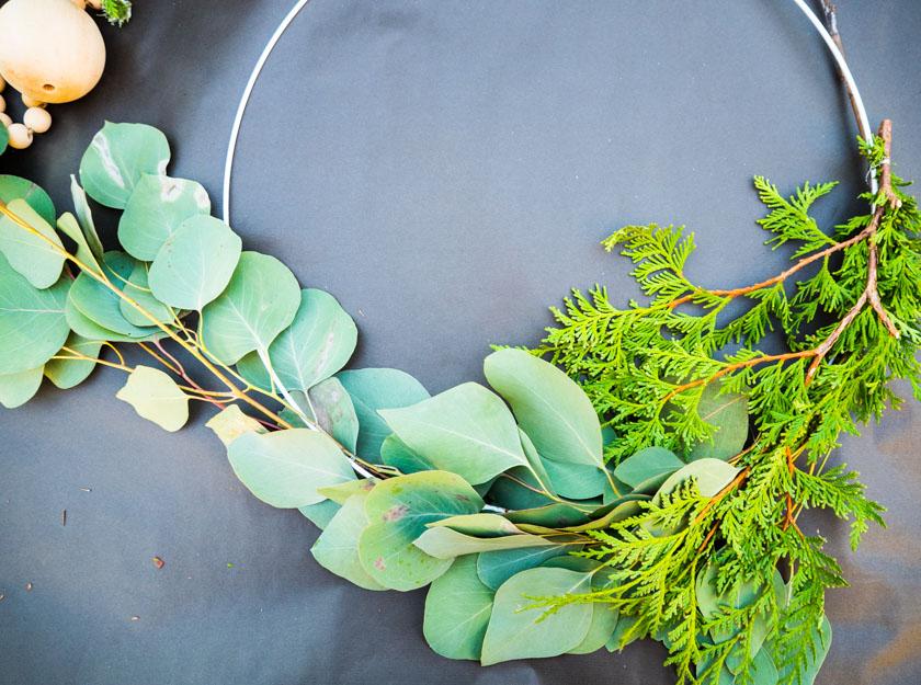 DIY Kränze binden mit Naturmaterialien