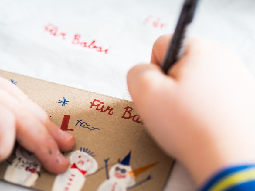 DIY Weihnachtskarten mit Fingerabdruck
