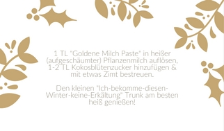 Goldene Milch Geschenkanhänger