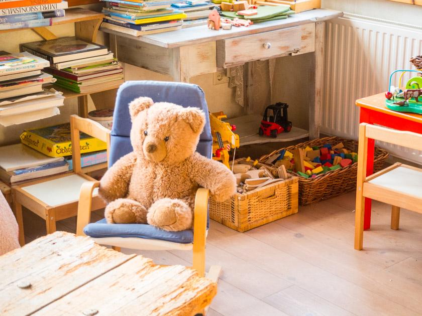 Familienurlaub am Bauernhof Teddybär im Spielzimmer