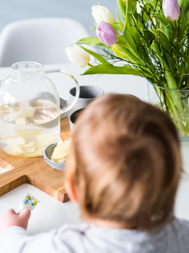 Mit Kindern gesund durch den Winter_heißes Ingwerwasser
