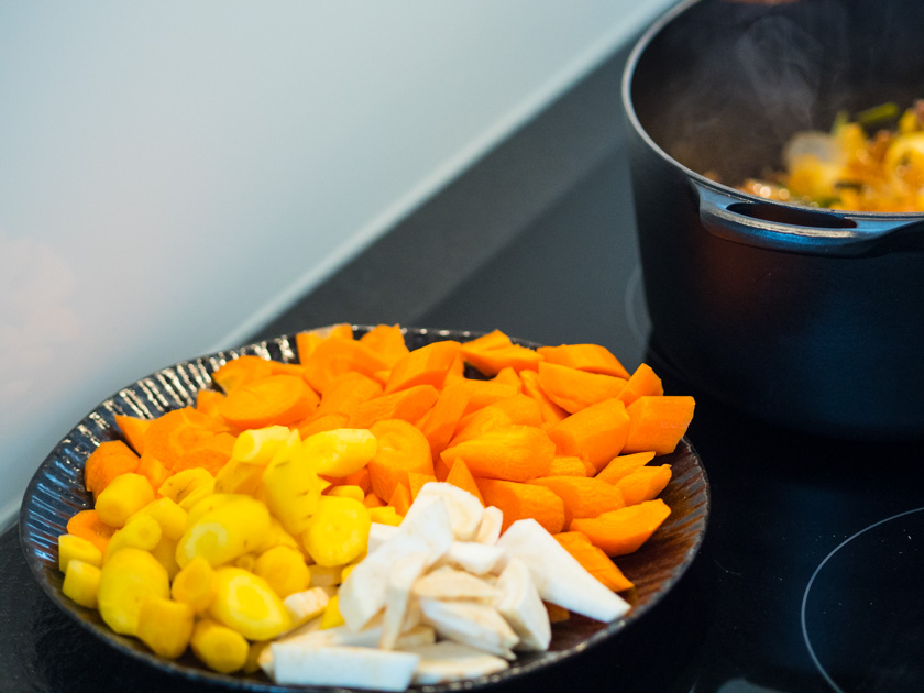 Boeuf Bourguignon One Pot Rezept_Suppengemüse geschnitten