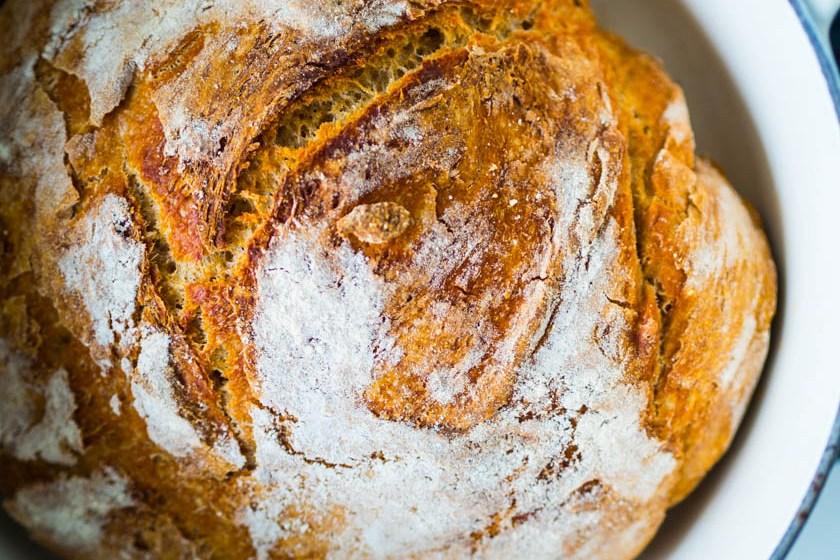 Brot ohne Kneten_Fertiges Brot