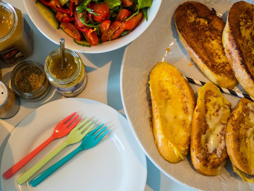 Butter selber machen mit Kindern_Salat und Chutney