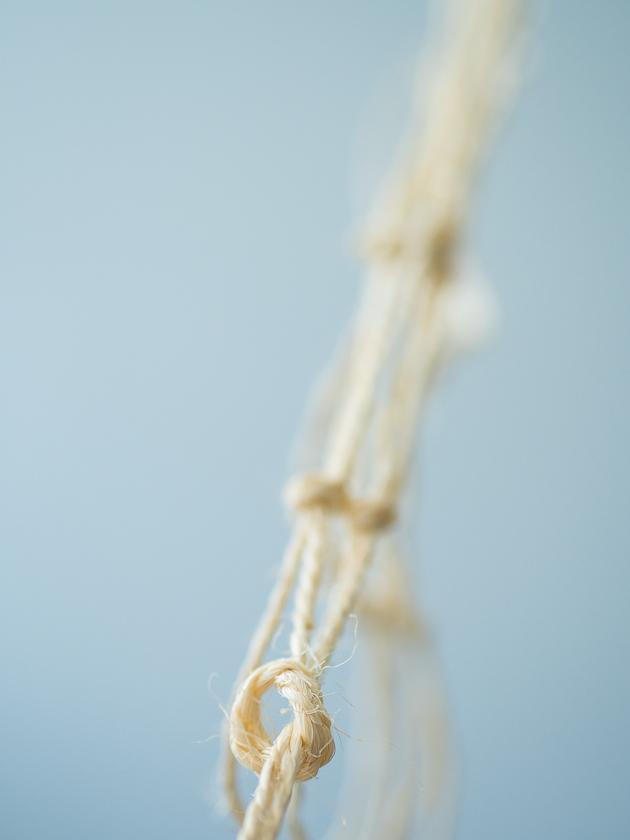 DIY Makramee Blumenampel_Überhandknoten knüpfen
