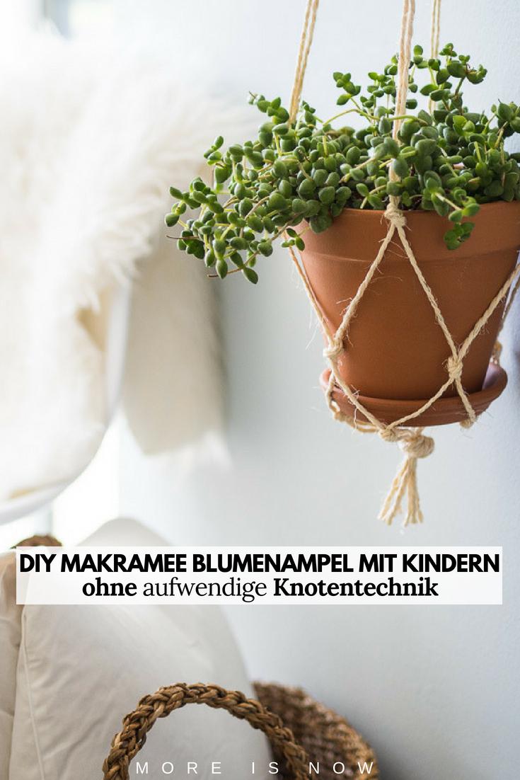DIY Makramee Blumenampel ohne aufwendige Knotentechnik