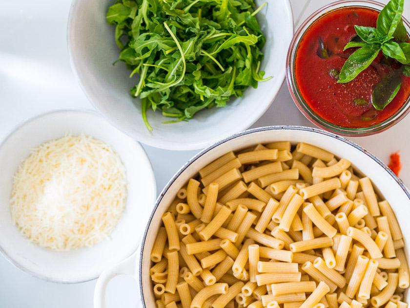 Meal Prep für Familien_Vollkornpasta mit Tomatensoße