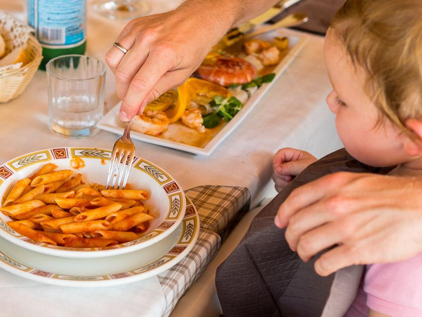 Urlaub am Gardasee mit Kindern_Pasta