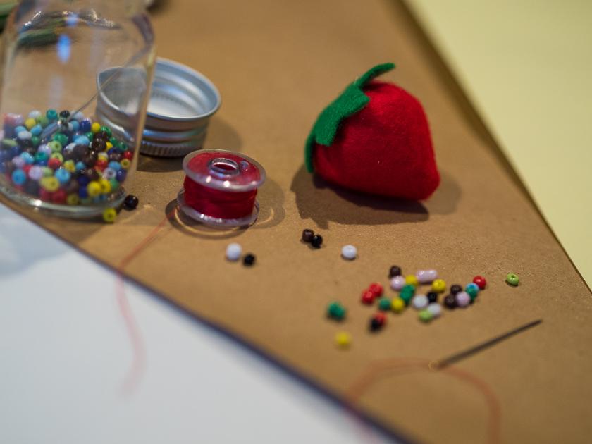 Familien-Faschings-Verkleidung_Erdbeere aus Filz