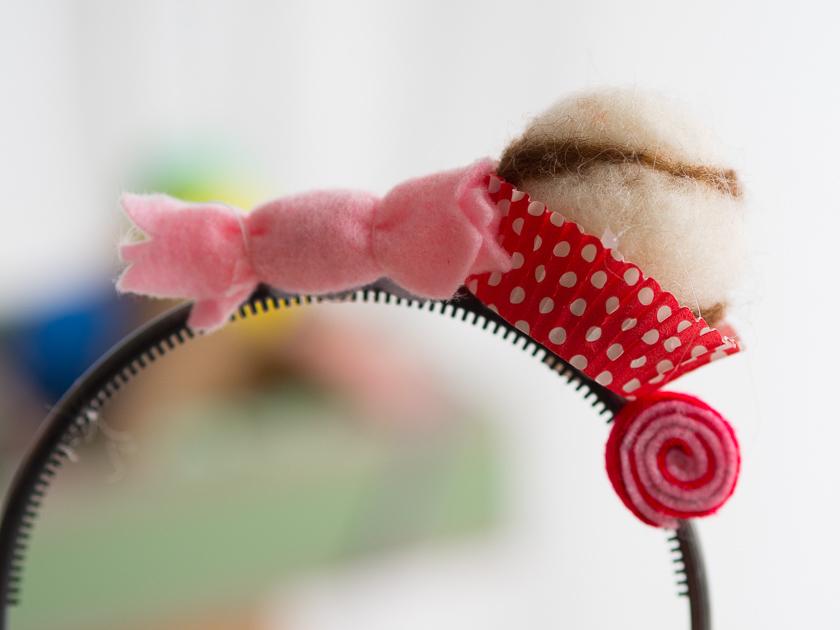Familien-Faschings-Verkleidung_Haarreifen mit Süßigkeiten
