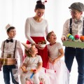 Familien Faschings Verkleidung zuchersüß