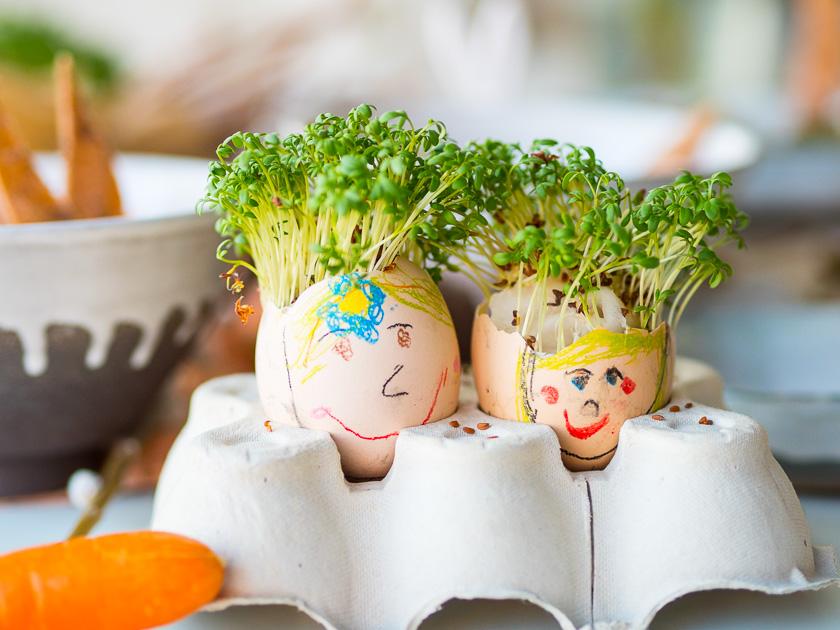 Frühlingserwachen mit Kindern_Kresseeierköpfe