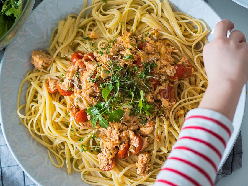 Familien Meal Prep_Rezept Lachs Pasta