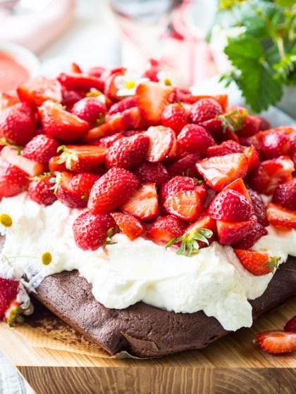 Muttertags-Erdbeer-Kuchen