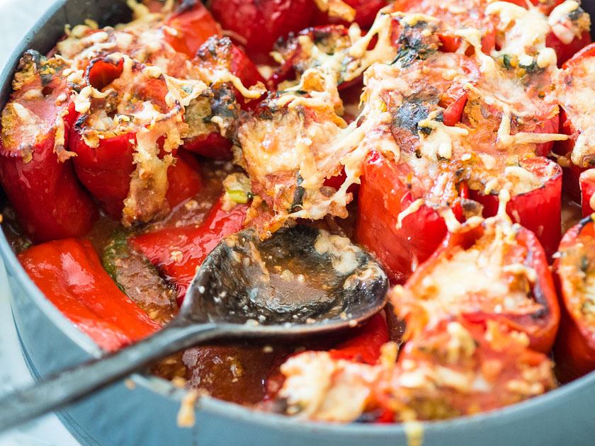 gefüllte Paprika, ein Familienrezept_vegetarisch