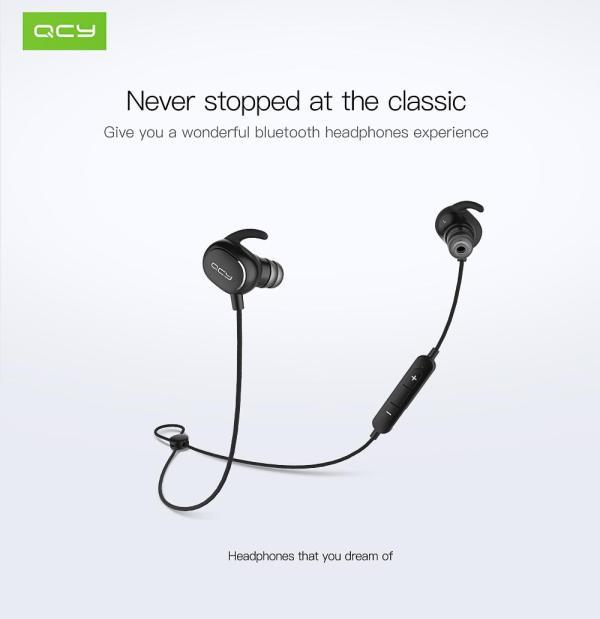 QCY QY19 Black  Bluetooth гарнитура беспроводные  черные наушники с хорошим звуком  ОРИГИНАЛ шумоподавление