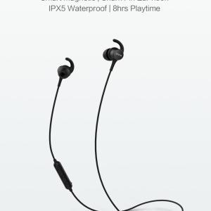 QCY M1S Bluetooth гарнитура магнитная IPX5 Беспроводные наушники с микрофоном ОРИГИНАЛ