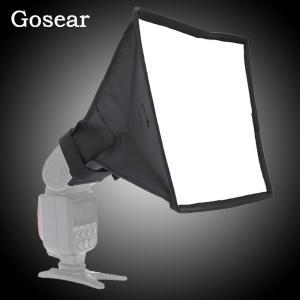 Рассеиватель накамерный портативный софтбокс Gosear 20х30см на фотовспышку Canon Nikon