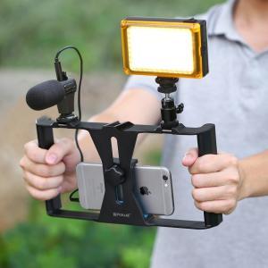PULUZ PU3007 крепления для смартфона блогера youtube, можно крепить смартфон, микрофон, свет, ножку