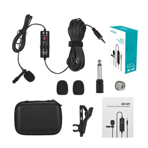 Andoer AD-M1 всенаправленный конденсаторный микрофон  петличный микрофон Распродажа