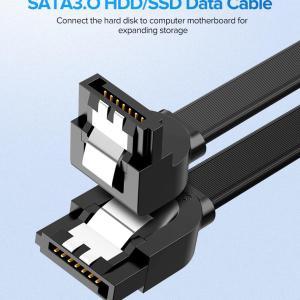 Качественный кабель Ugreen SATA 3,0 жесткий диск SSD HDD Сата 3 прямой прямоугольный кабель US217