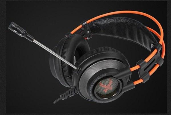Xiberia K9 USB 7.1 игровые наушники с микрофоном черный и оранжевый ОРИГИНАЛ Без розничной упаковки