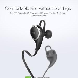 Qcy QY8 Bluetooth гарнитура беспроводные наушники с микрофоном  черный ОРИГИНАЛ