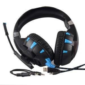 ONIKUMA K2 Pro  компьютерные игровые наушники с микрофоном и светодиодной подсветкой Синий