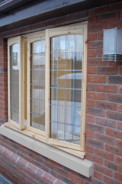 Hardwood Window with lead strips