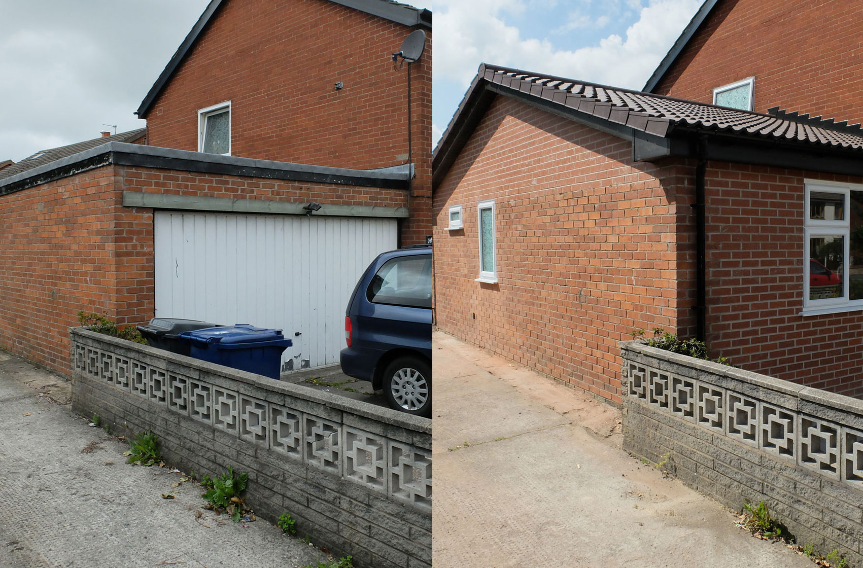 Before After Garage Conversion Photographs More Living Space