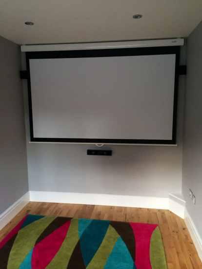 Home cinema projector screen