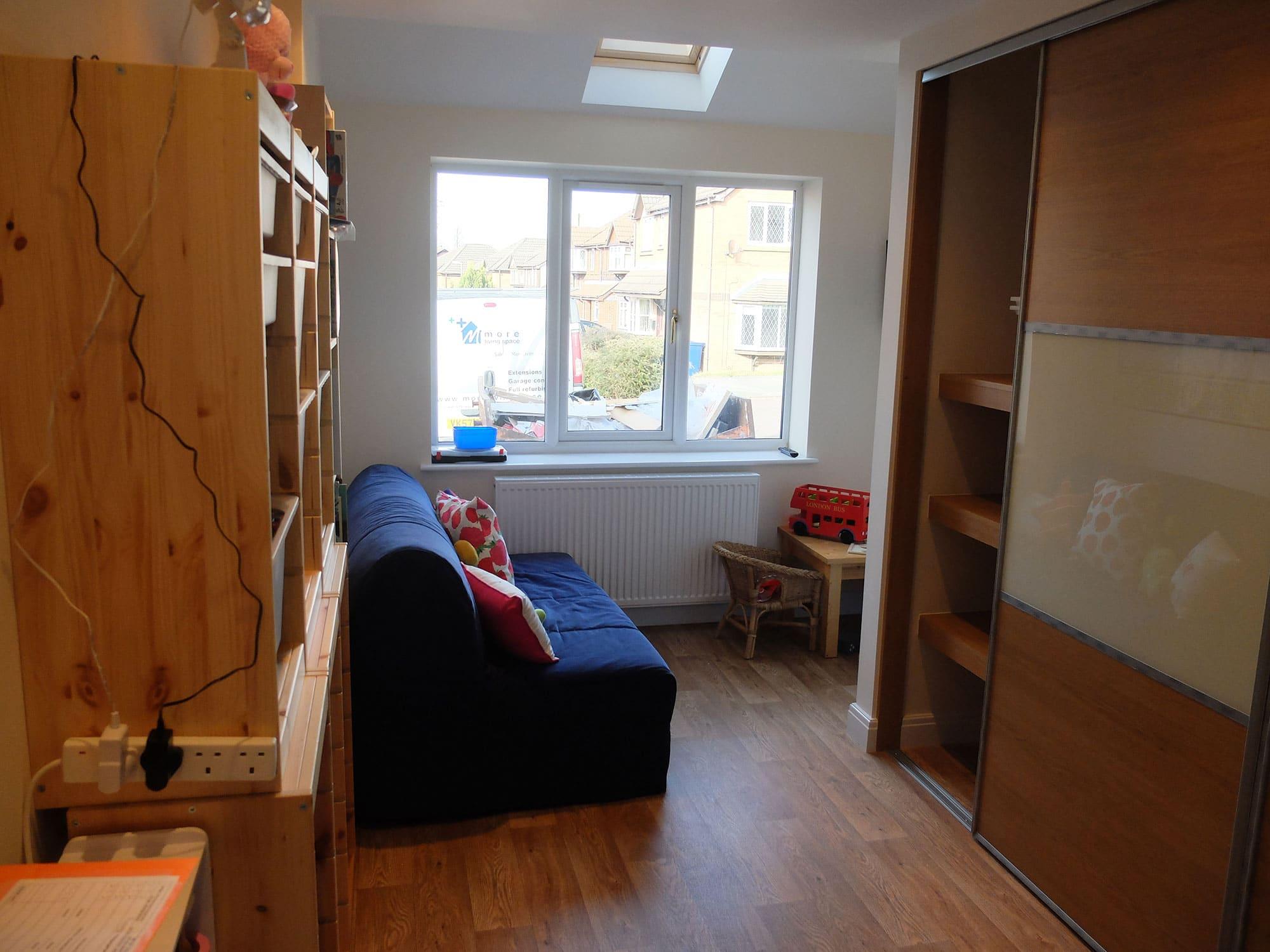 Single Garage Conversion to Play Room in Leyland Lancashire