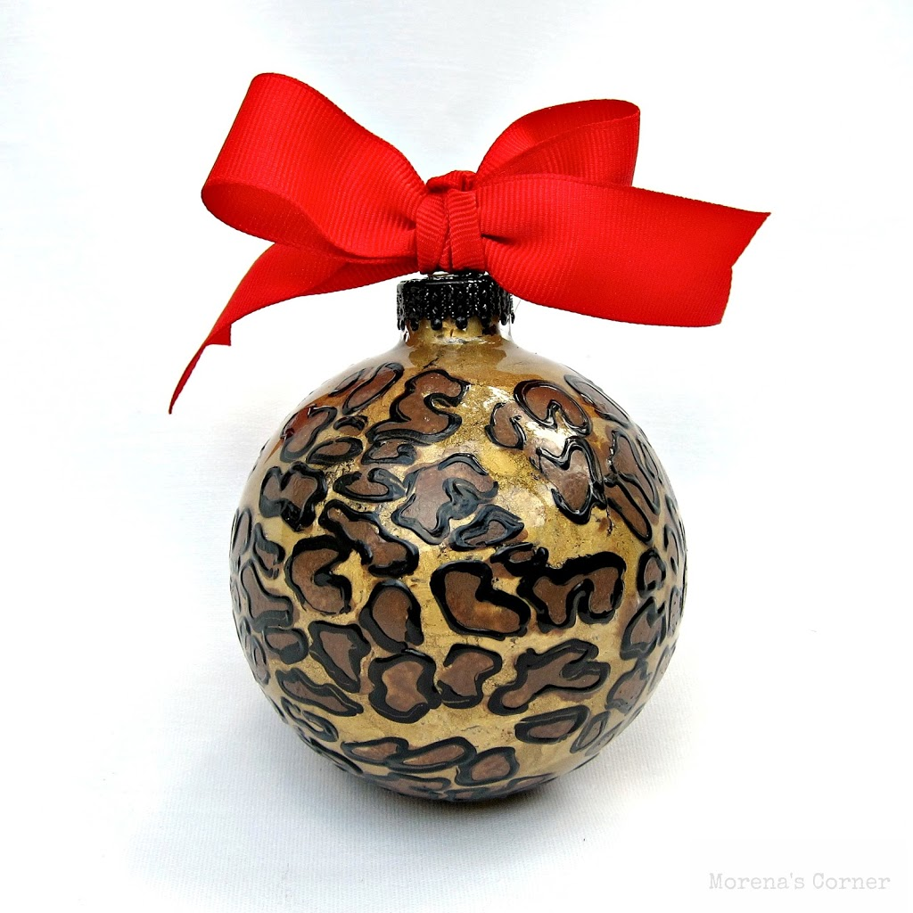 I Love Animal Print, And I'm Seeing It Everywhere This Winter (yay!!) This  Ornament Is Surprisingly Easy To Make!