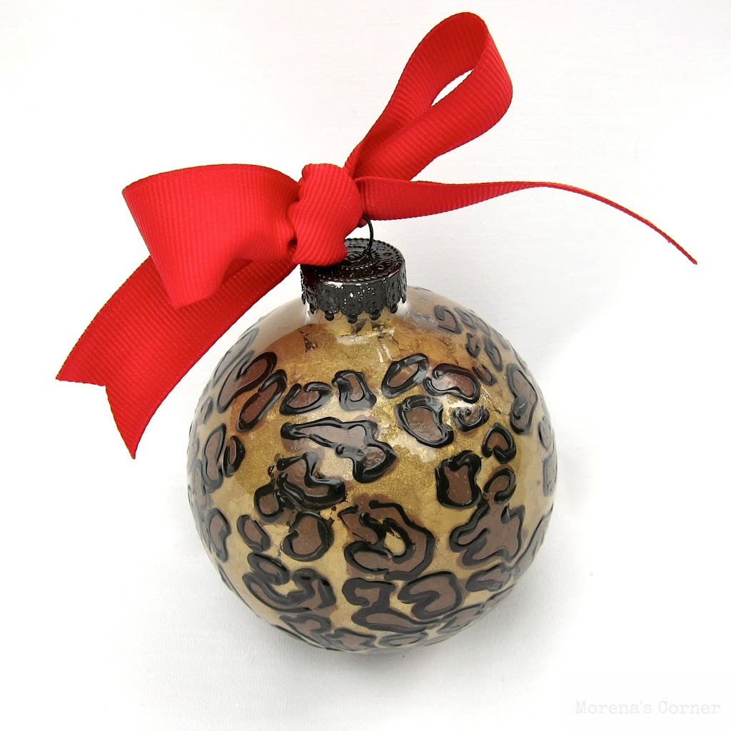 Diy Glass Ornaments: DIY Safari Painted Glass Ornament And A HUGE Giveaway