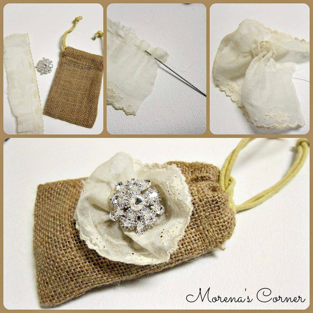 DIY Burlap and Bling Favor Bags - Morena\'s Corner