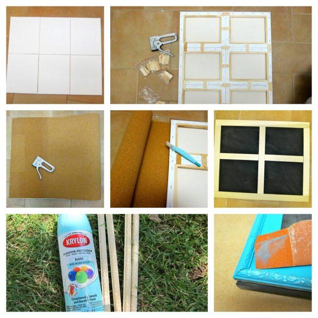 Build your own window frame cork board morena 39 s corner for Build your own window