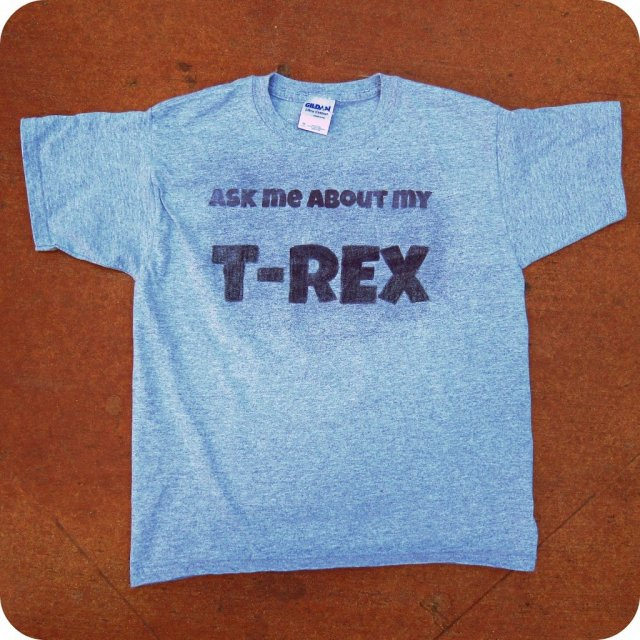 Use ink effects to make a funny dinosaur t-shirt.  (The surprise is inside!)