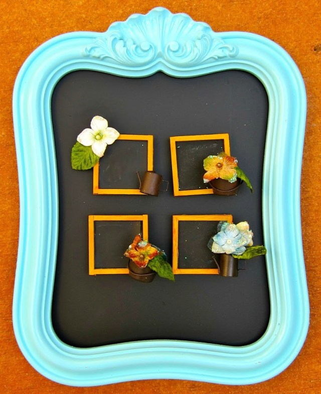 Make your own mini chalkboard place settings that double as favors.