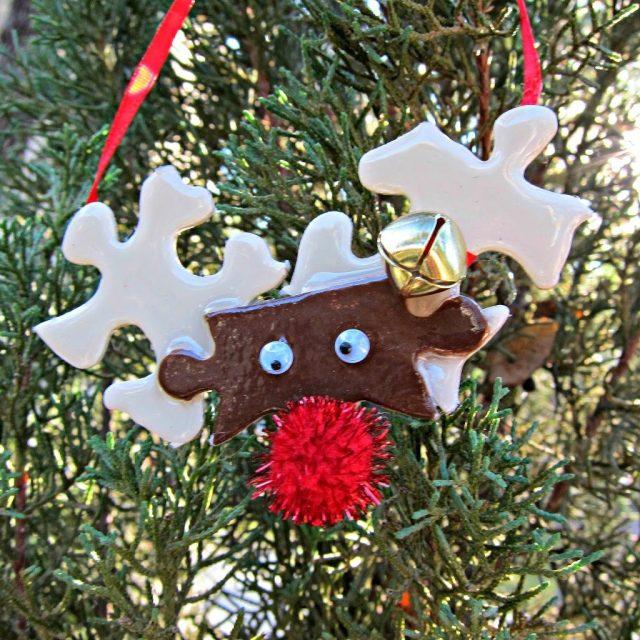 Reindeer Puzzle Piece Ornament Morena S Corner