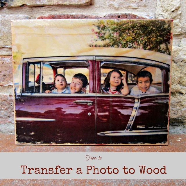 Learn how to use Mod Podge to transfer a photo to wood. Turn your favorite images into beautiful pieces of home decor.