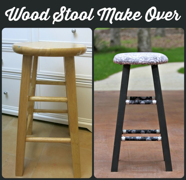 Thrifted Wood Stool Make Over Morena S Corner