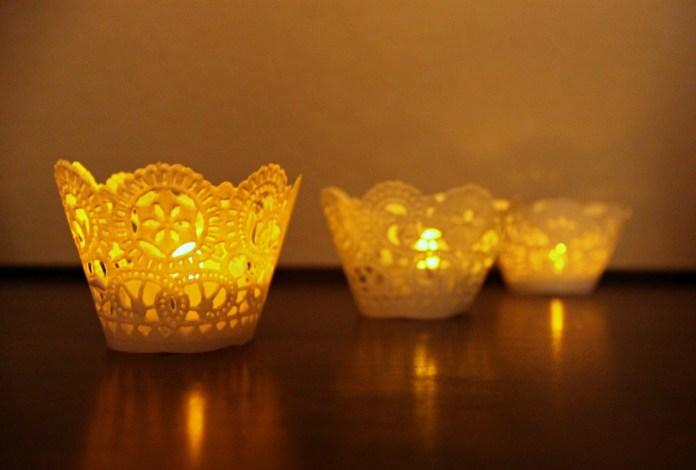 doily luminaria