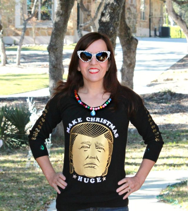Make your own Trump Ugly Sweater and be the talk of the party!